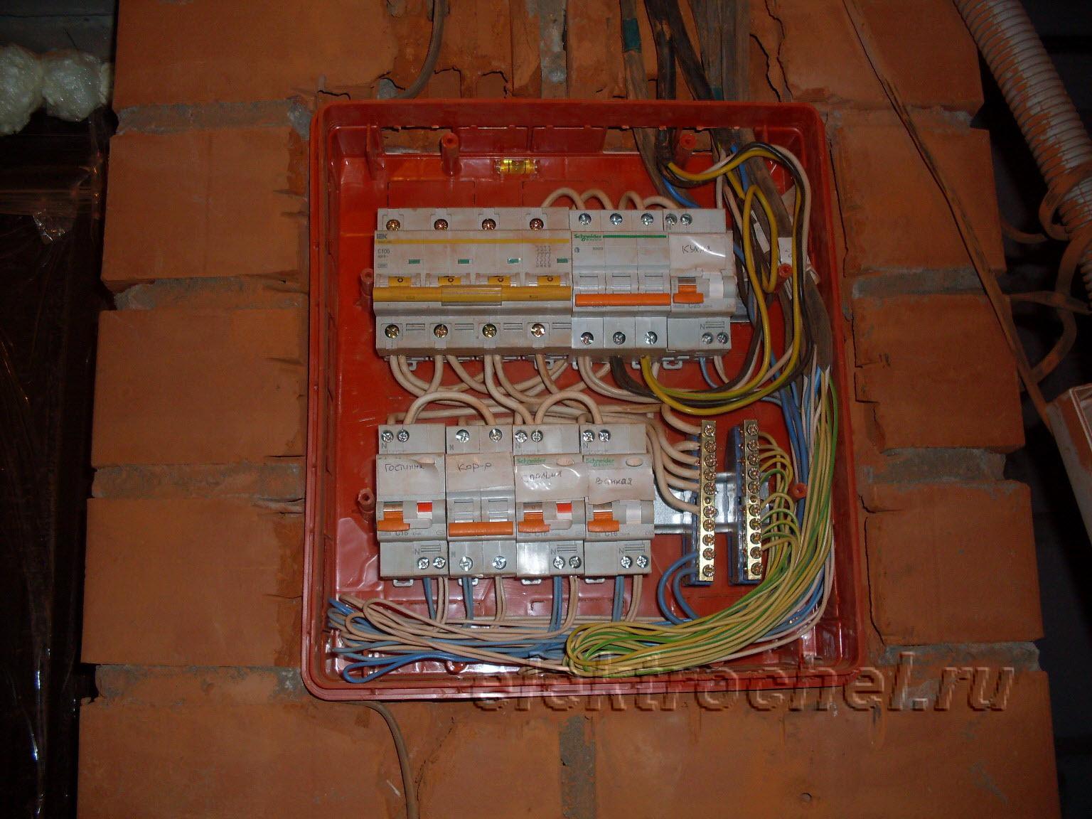 Коммутация электрощита в новостройках