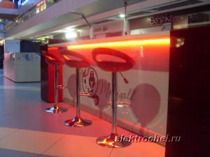 Светодиодная подсветка бутика