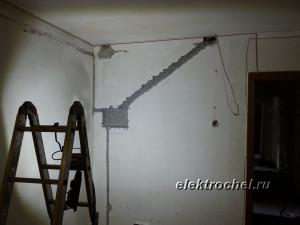 Ниша под щит в коридоре